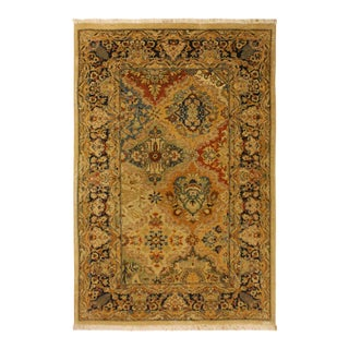 Istanbul Alfredo Gold/Blue Turkish Hand-Knotted Rug -3'2 X 4'11 For Sale