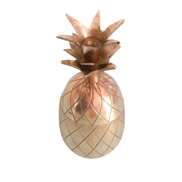"4.5"" Petite Brass Pineapple Container - Image 1 of 7"