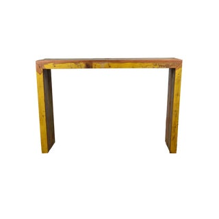 Reclaimed Peroba Rosa Wood Long Balcony Bar Table / High Console