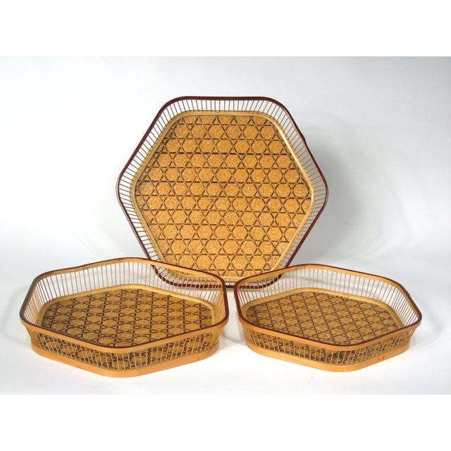 Japanese Nesting Baskets - Set of 3 - Image 2 of 4