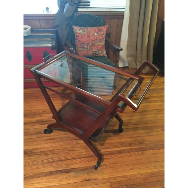 1950s Cesare Lacca Mid Century Modern Bar Cart - Image 2 of 6