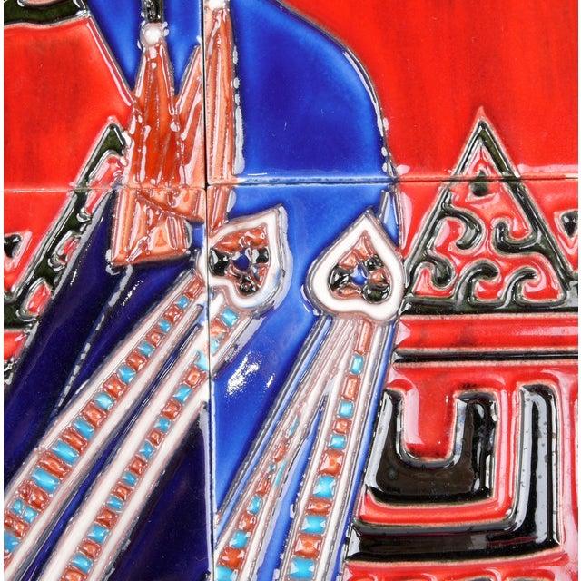 1970s Geisha Tile Wall Art Plaque For Sale - Image 5 of 9
