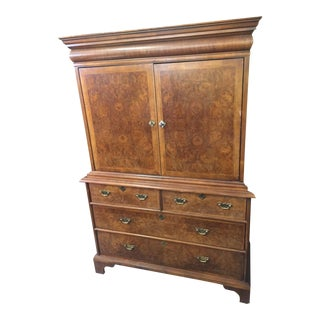 Vintage Century Furniture Company Burlwood Cabinet For Sale