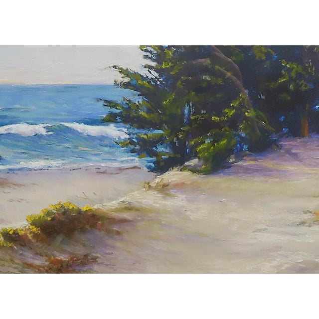 Americana Donna Jensen Burke -Sandy Overlook at a Mendocino Beach-Painting For Sale - Image 3 of 8