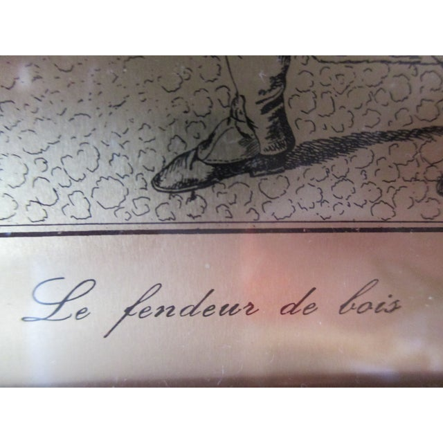 Mid-Century Modern Petite French Print With Legend For Sale - Image 3 of 6