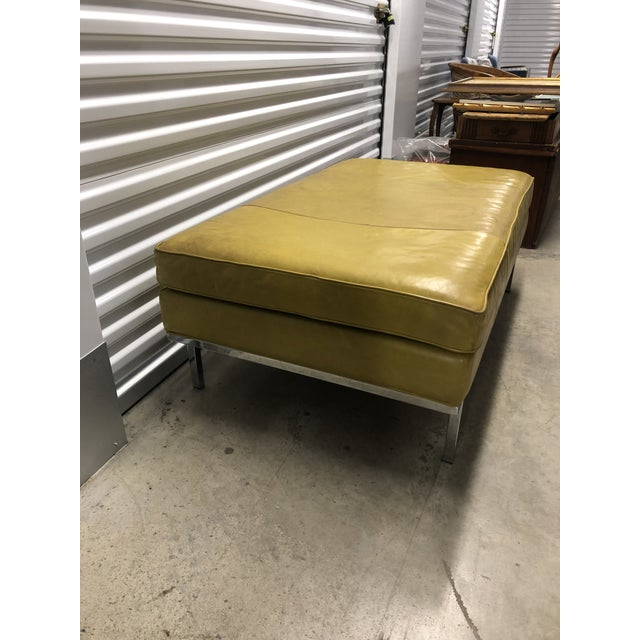 Contemporary Early 21st Century Vintage Design Within Reach Leather Ottoman For Sale - Image 3 of 6