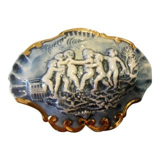 Italian Color Capodimonte Trinket Box For Sale