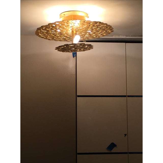 Gold Coin 2 Tiered Ceiling Light - Image 7 of 7
