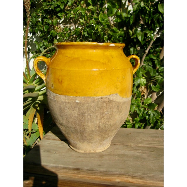 19th Century Country French Rustic Yellow Pot For Sale - Image 10 of 12