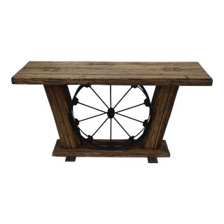 ''The Homestead'' . Bold Rustic Reclaimed American Chestnut Console For Sale