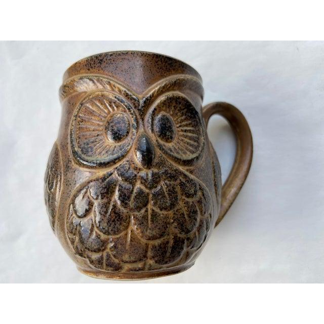 Brown Vintage Holt Howard Owl Mug For Sale - Image 8 of 8
