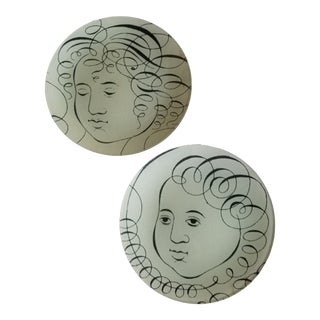 Pair of John Derian Glass Plates For Sale