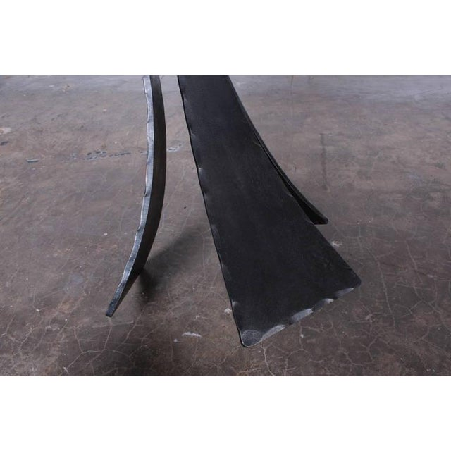 Metal Pair of Forged Steel Stools Designed by John Baldasare For Sale - Image 7 of 10