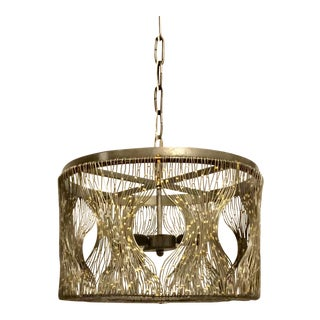 Mid-Century Modern Brutalist Style Currey & Co. Prototype Chandelier For Sale