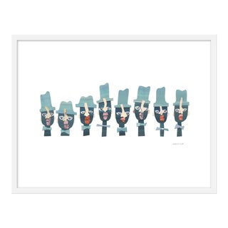 "Medium ""Monday Blues (Brothers)"" Print by Melvin G., 31"" X 14"""