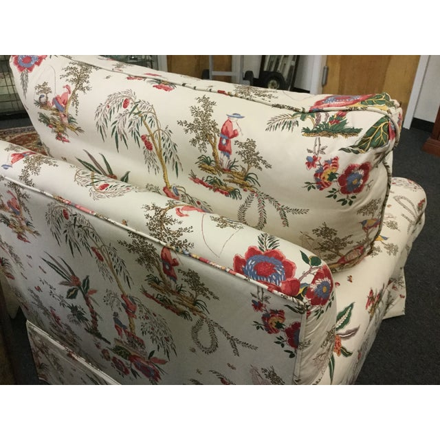 Vintage Toile Club Chairs - Pair - Image 6 of 7
