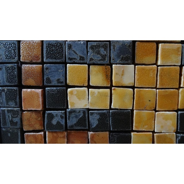 Mid-Century Greek Key Marble Mosaic Wall Art or Table Top For Sale In Monterey, CA - Image 6 of 12
