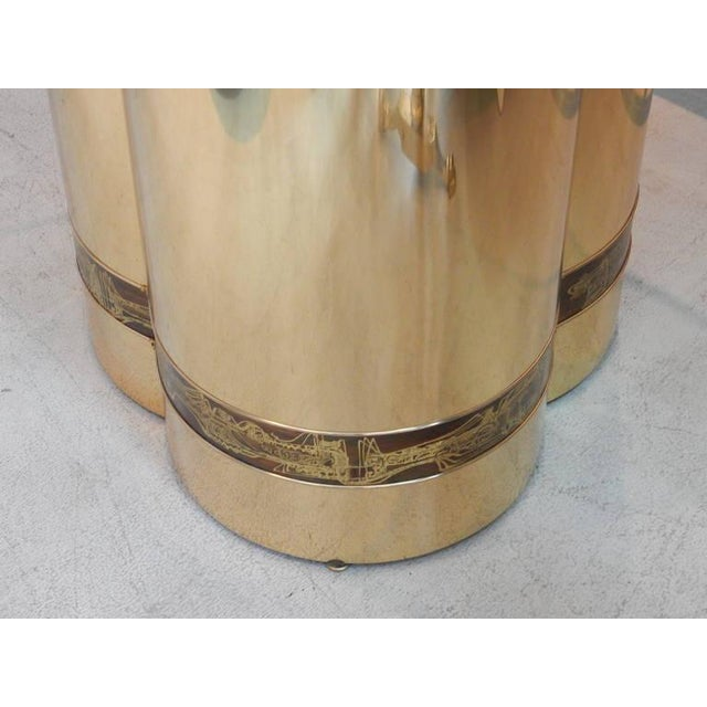 Mastercraft Brass Table by Bernhard Rohne for Mastercraft For Sale - Image 4 of 5