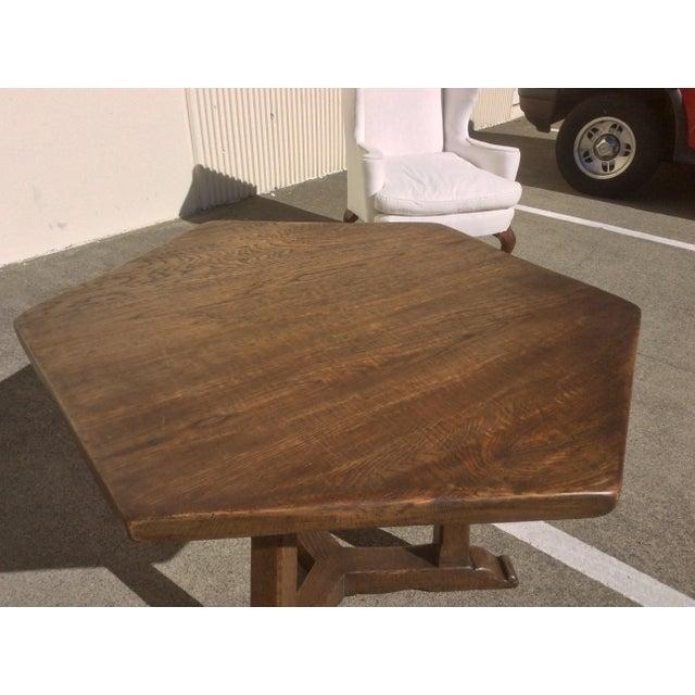 Oak Rustic Oak Center Table For Sale - Image 7 of 10