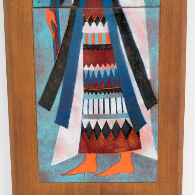 Judith Daner Midcentury Enamel on Copper Artwork Wall Panel Egyptians, a Pair For Sale In Atlanta - Image 6 of 13