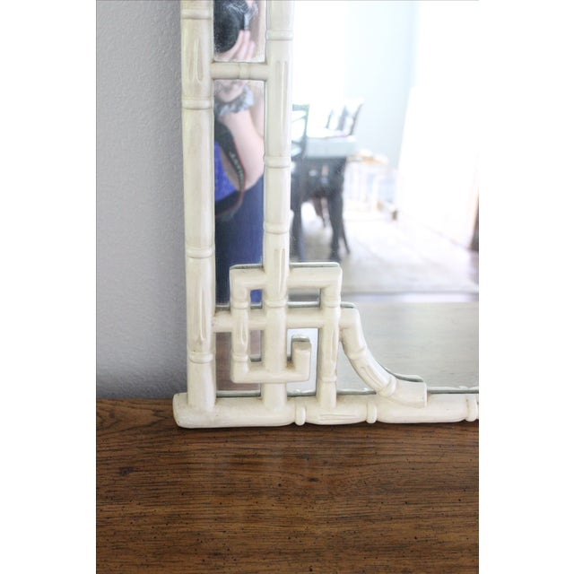 Vintage Greek Key Faux Bamboo Mirror - Image 6 of 11