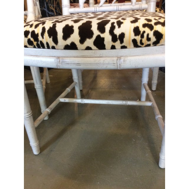 Faux Bamboo Dining Chair - Set of 4 For Sale - Image 10 of 13