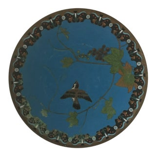 Late 20th Century Cloisonné Plate For Sale