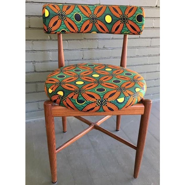 This unique set of solid teak chairs is from G-Plan, one of the most coveted brands in the 1950s and 1960s for its quality...