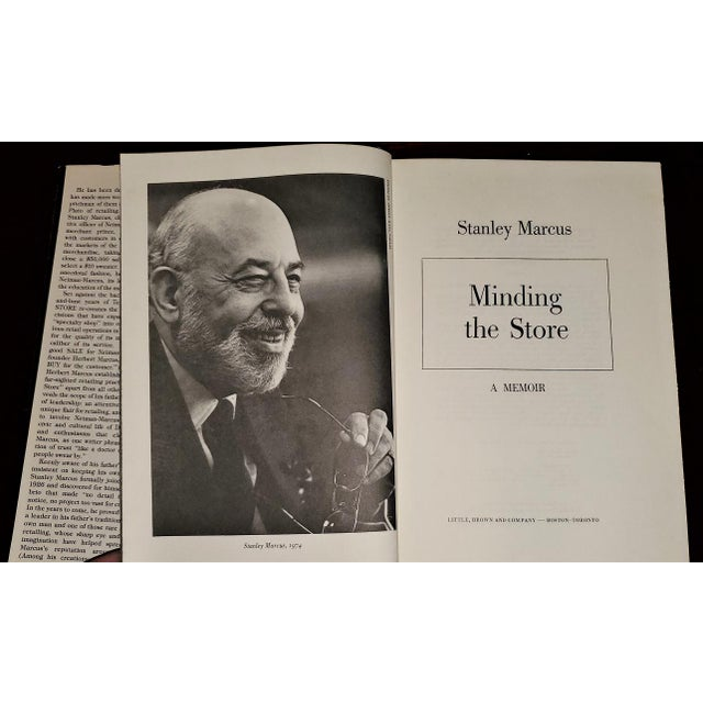 """Minding the Store"" Book by Stanley Marcus 1st Edition Signed For Sale - Image 4 of 13"