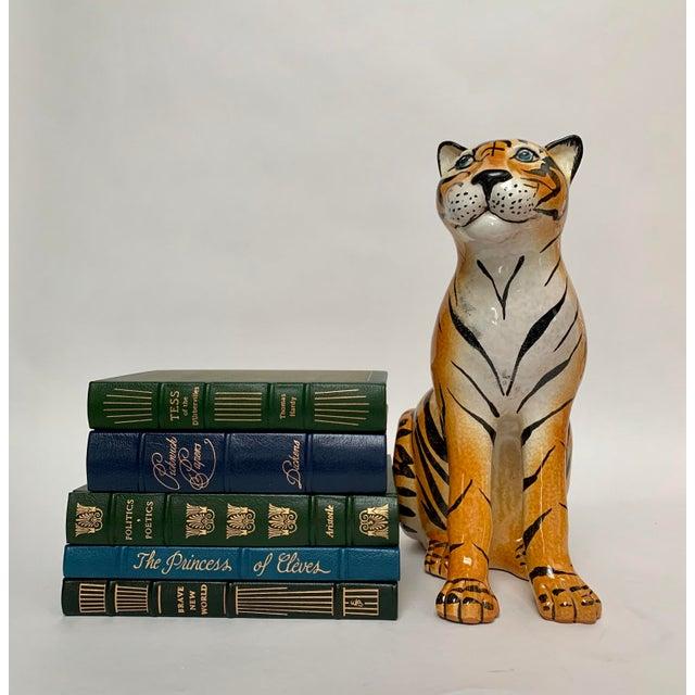 Large Italian Terra Cotta Tiger Figure For Sale - Image 11 of 12