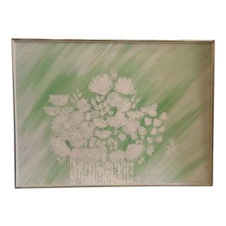 Mid-Century Modern Harris Strong Floral Painting