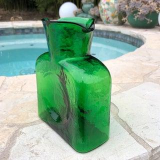 Blenko Modernist Green Art Glass Carafe Preview