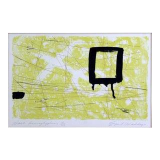"Mid Century Modern ""Heiroglyphics"" by Emil Weddige Unframed Lithograph For Sale"