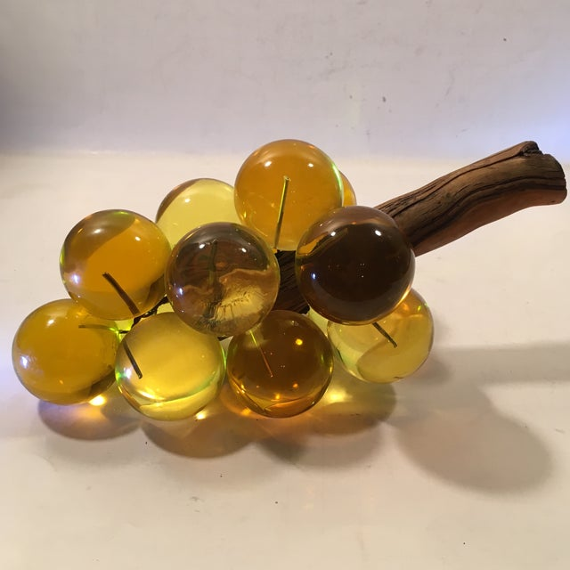 Amber Lucite Grapes - Image 2 of 8