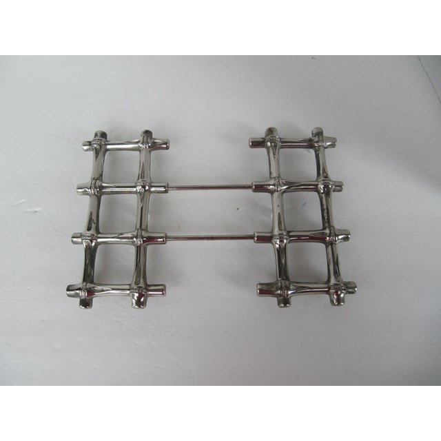 Silverplate Bamboo Trivet - Image 3 of 5
