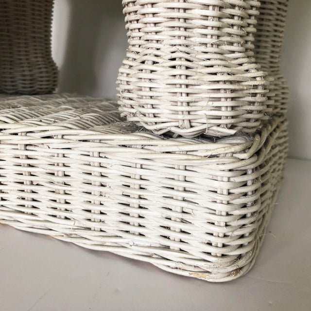 Vintage Wicker Elephant Garden Stool Side Table For Sale - Image 11 of 13