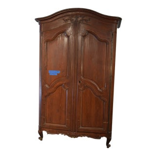 18th Century Louis XV French Pine Armoire