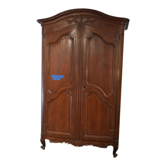 18th Century Louis XV French Pine Armoire For Sale