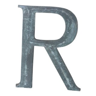"""19th Century French Cast Bronze Letter """"R"""" For Sale"""