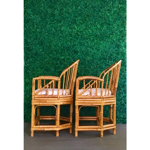 1980s 1980s Vintage Brighton Bamboo ChairsA Pair For Sale - Image 5 of 13
