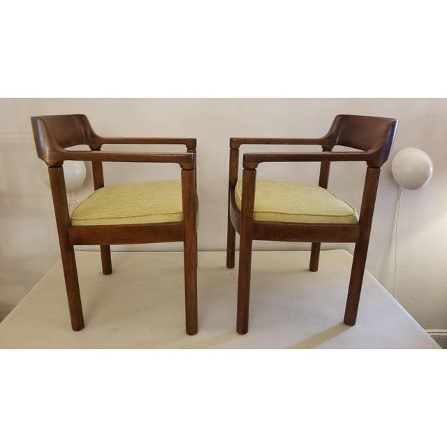 Sturdy Pair of chairs designed by Nicos Zographos in 1962 at the request of Lydia dePolo for the interior of a hotel in...