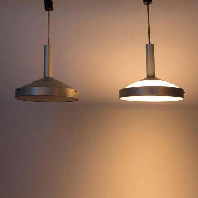 Italian Pair of Two Pendant Lamps by Stilux For Sale - Image 3 of 9
