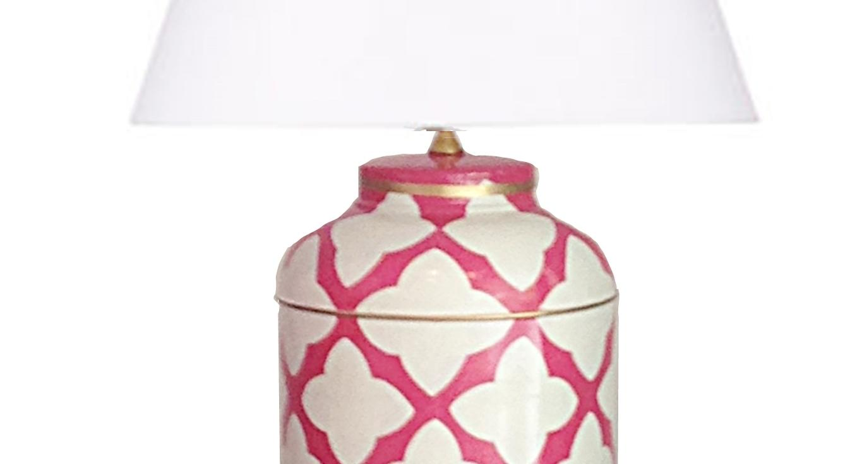 Dana Gibson Moda In Pink Tea Caddy Lamp   Image 2 Of 2