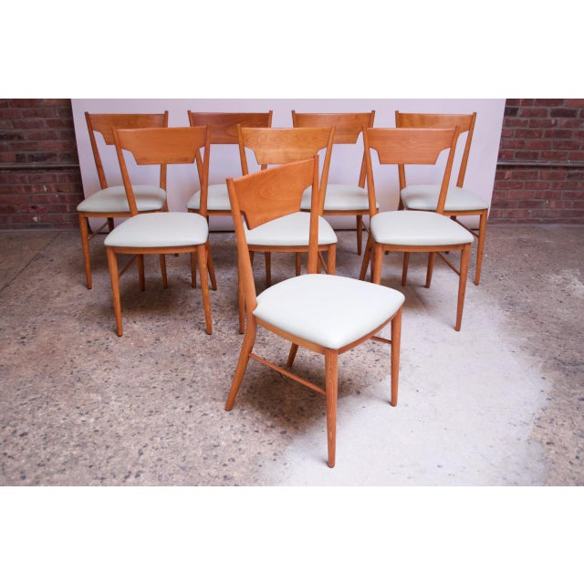Danish Modern Stained Maple Dining Chairs by Paul McCobb for Perimeter - Set of 8 For Sale - Image 3 of 13