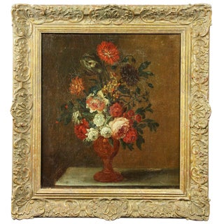 French Still Life Painting of Flowers For Sale