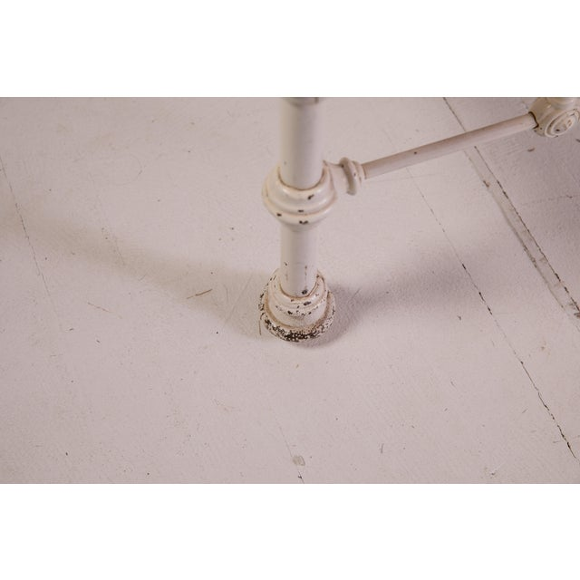 1910s Shabby Chic White Iron Victorian Bedframe For Sale - Image 11 of 12