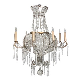 Crystal Chandelier, Italy Circa 1920 For Sale