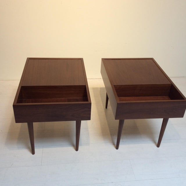 This pair of highly sought after end tables by Milo Baughman for Glenn of California were created for their The Modern...