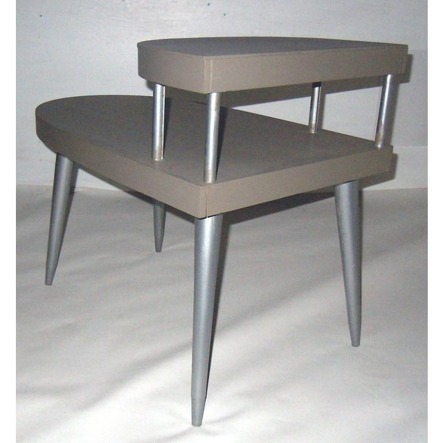 Mid-Century Two-Tiered Side Tables - A Pair - Image 5 of 8