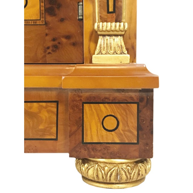20th Century English Style Nightstands With Floral Marquetry- a Pair For Sale - Image 10 of 11